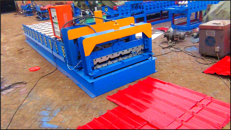 Galvanized Steel Roofing Sheet and Wall Sheet Roll Forming Machine