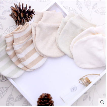 Cute Organic Cotton Gloves for New Born Baby