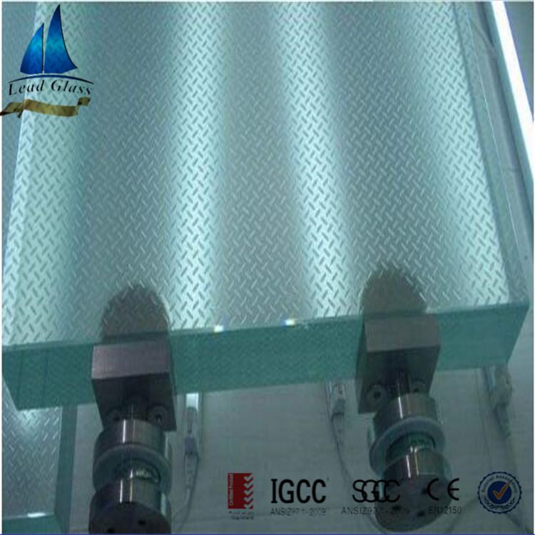 Anti-Slip Laminated Staircase Tread Glass