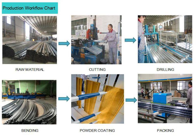 Easily Assembled Aluminum Industrial Factory Railing