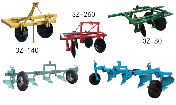 New Type Agricultural Ridging Plough Equipment for 80HP Tractor