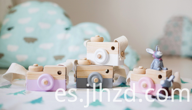 wooden camera toy
