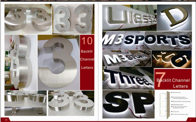 High Iluminunce Acrylic Alphabet LED Sign Letters Acrylic Front Lit LED Light Box Letter
