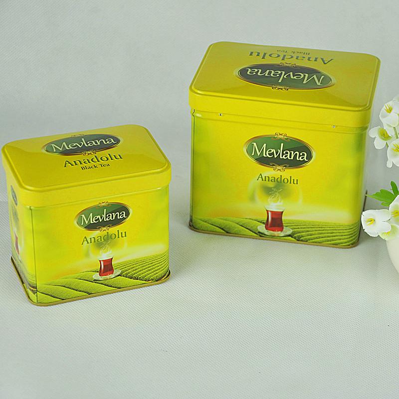 Tin Box Factory Manufacturing Recatngular Tea Gift Packaging Tin Box Sets