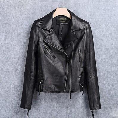 Genuine Leather Clothing Motorcycle Jacket Women