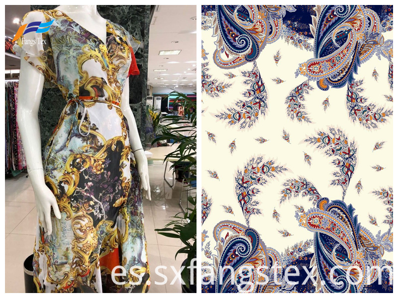 100% Polyester Digital Printed Thicker Chiffon Fabric