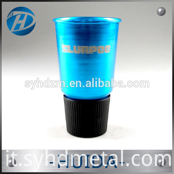 fashion colorful anodized aluminum drinking cup