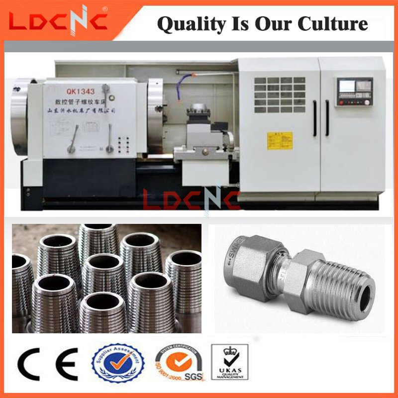 Qk1322 Economic Oil Country Big Bore CNC Pipe Thread Lathe for Sale