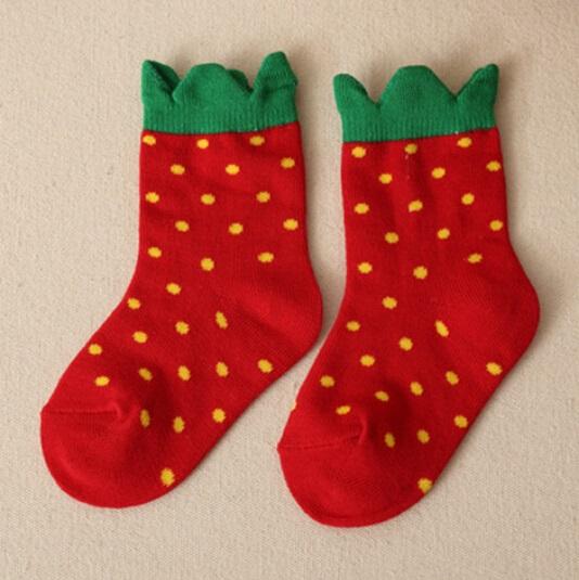 Kids Strawberry Cotton Socks