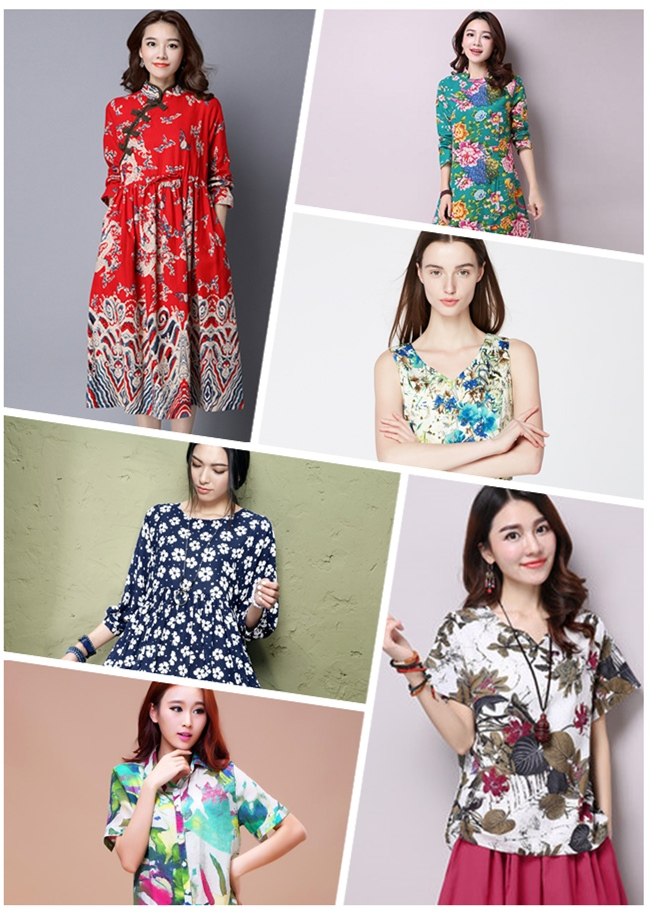 Cotton Spandex Printed Twill Fabric for Clothing (DSC-520)