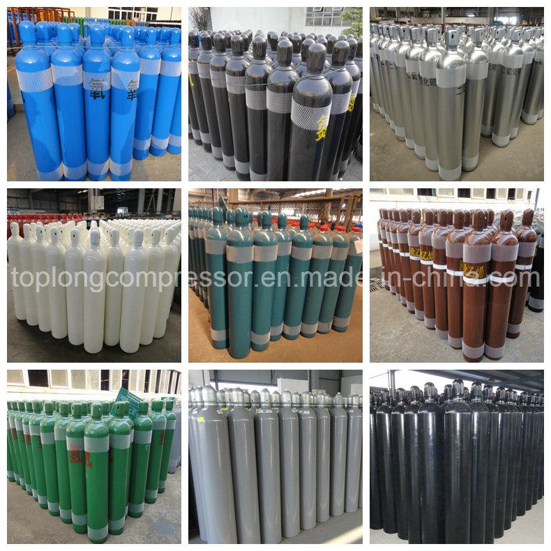 150bar /200bar High Pressure Seamless Steel Oxygen Nitrogen Hydrogen Argon Helium CO2 Gas Cylinder CNG Cylinder