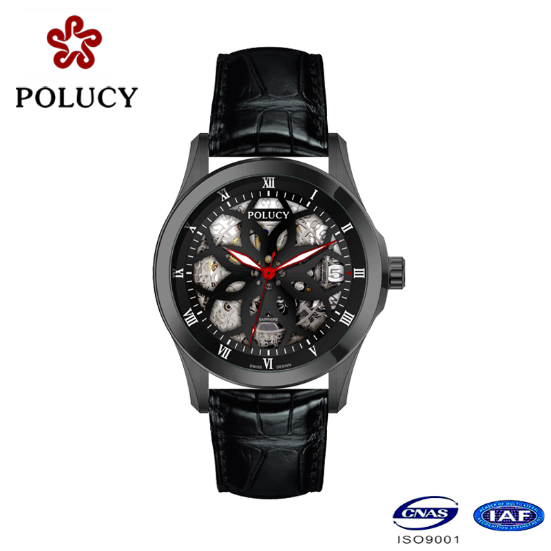 Watch Factory Custom Luxury Skeleton Watch for Men