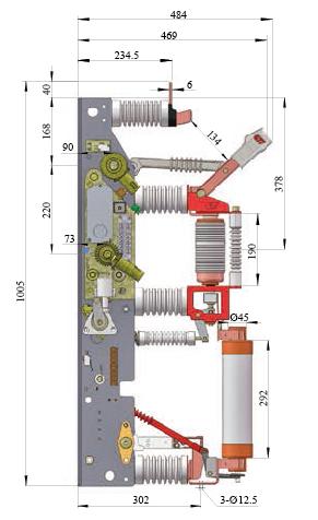 Yfr16b-12D/T125-31.5j Indoor AC Hv Load Break Switch-Fuse Combination Unit