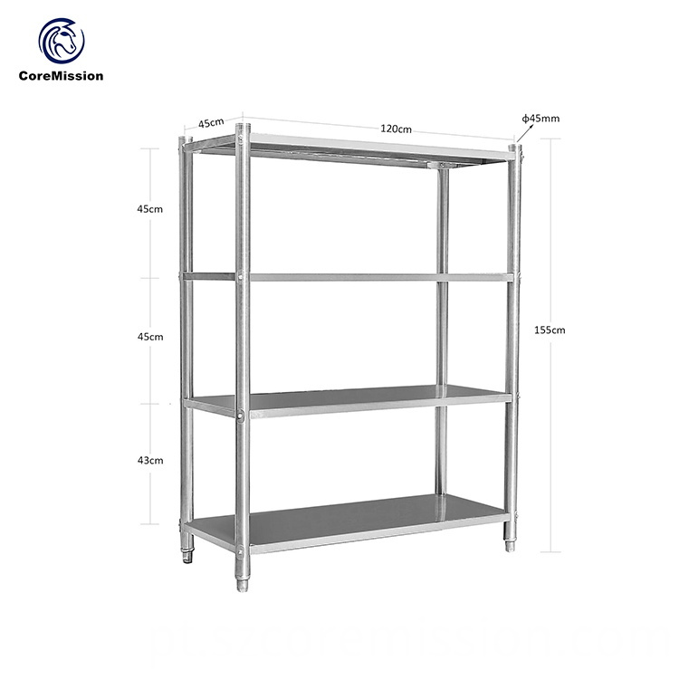 Home Storage Organization Stainless Steel Kitchen Wall Shelf