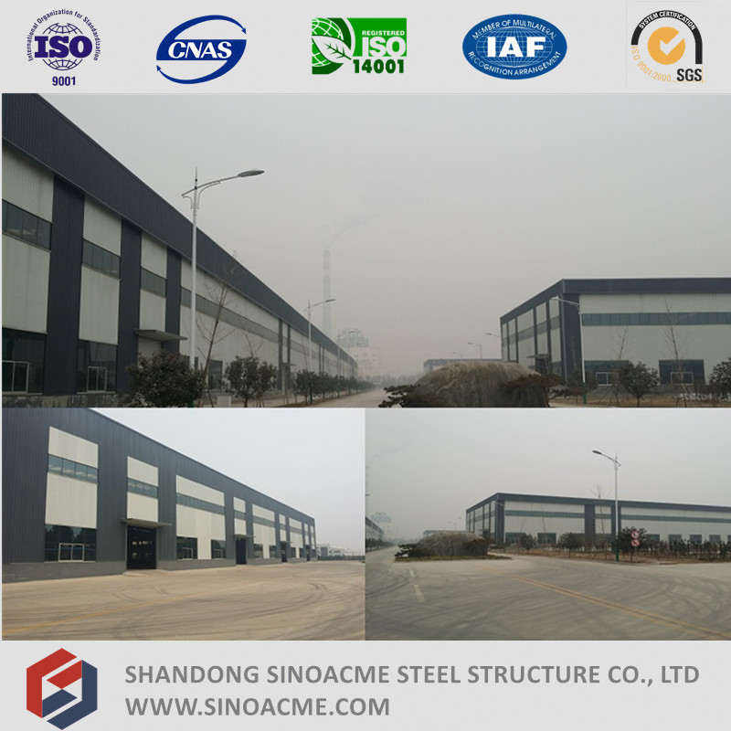Steel Frame Warehouse with Stone and Glass Curtain Wall
