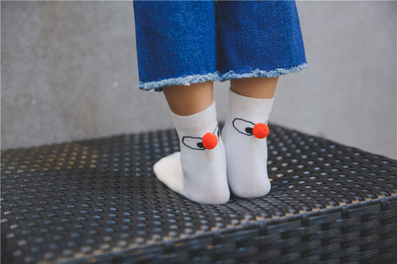 Fantastic Kid Cotton Socks Comfortable Wear Cute Designs with Lovely Ball of The Heel