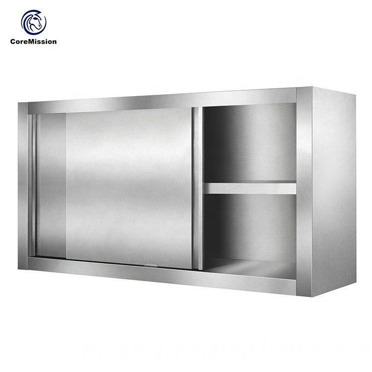Stainless Steel Sliding Door Kitchen Wall Hanging Cabinet