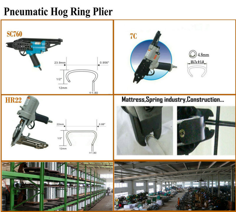 516g100 Hog Ring / C-Ring for Mattress