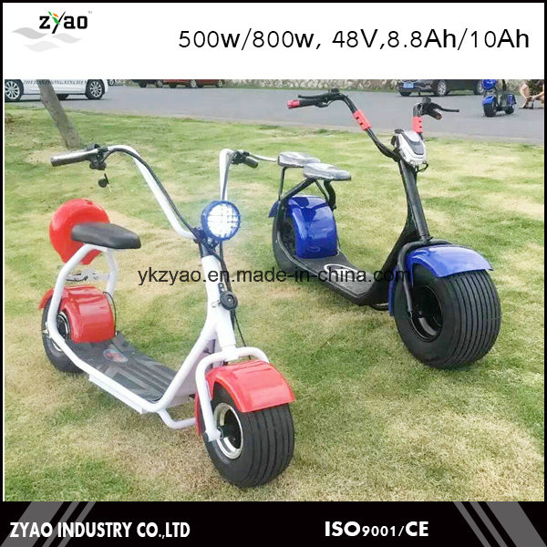 2016 Newest Two Wheels Colorful Customizable Citycoco Electric Scooter 800W/1000W Battery