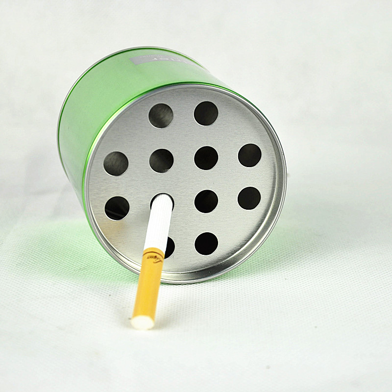 Custom Round Metal Indoor Standing Ashtray