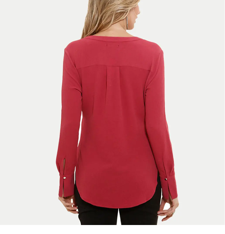 Crepe Chiffon Long Sleeve shirts