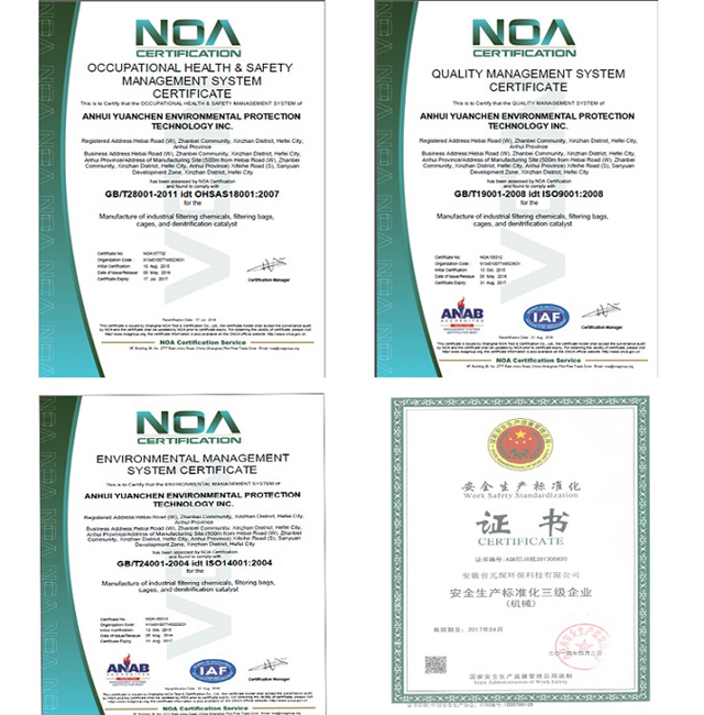Dust Collector Nonwoven Fms Filter Bag for Asphalt Plant