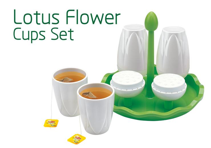 100% Melamine Lotus Flower Cups Set Artistic Mug
