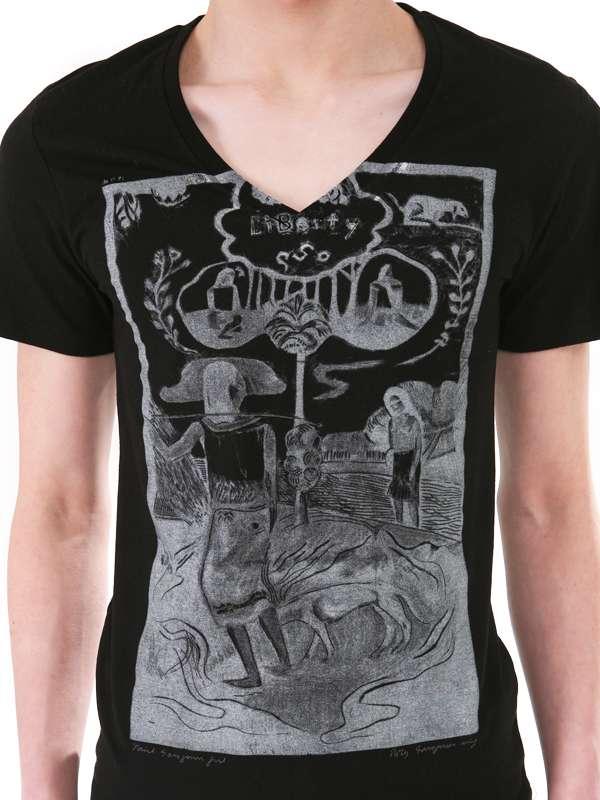 Custom Screen Printing Cotton Fashion Hotsale V Neck Men T Shirts