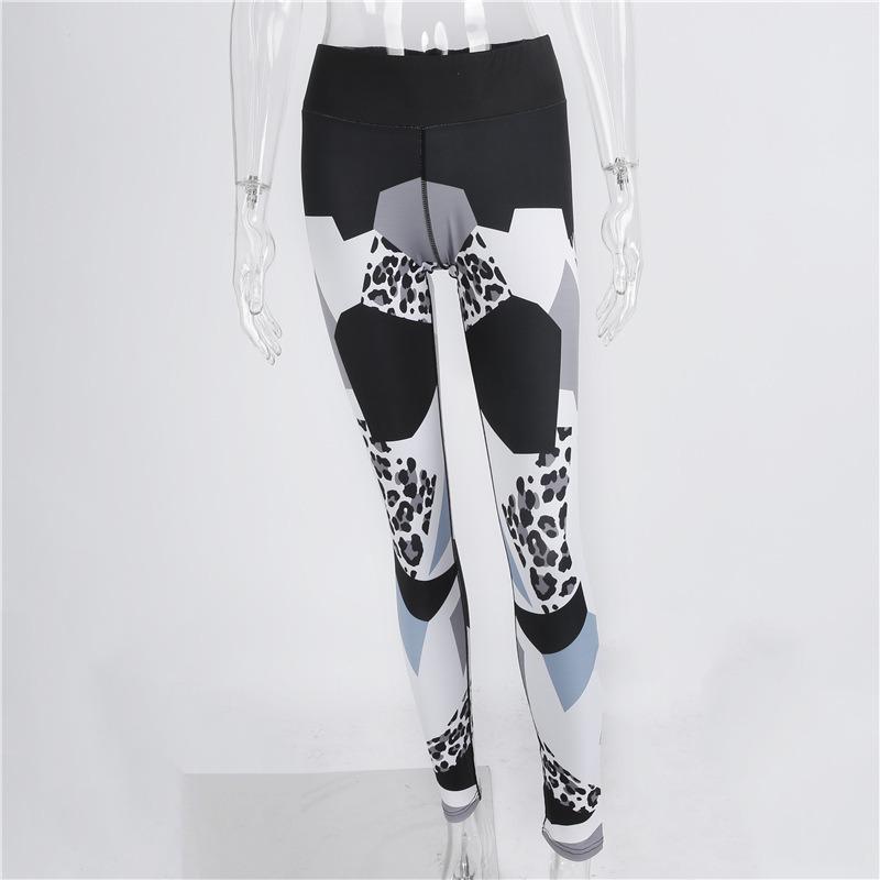 Printed 98% Polyester 2% Spandex Yoga Pants Leggings (3056)