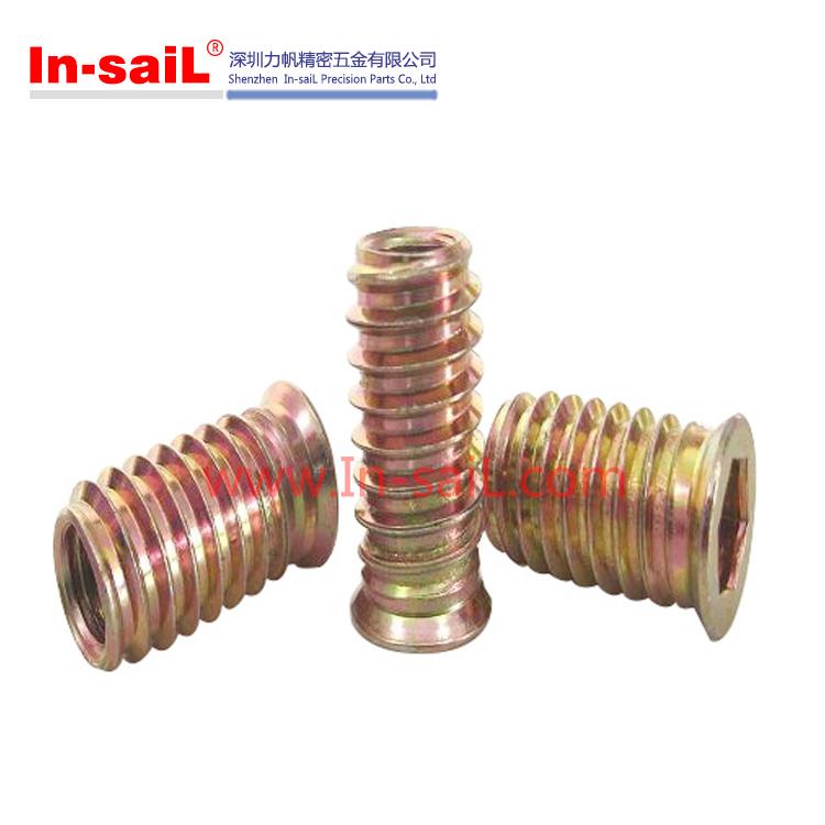 Steel Zinc Plating Screw Thread Inserts Wood 2016 China Manufacturer