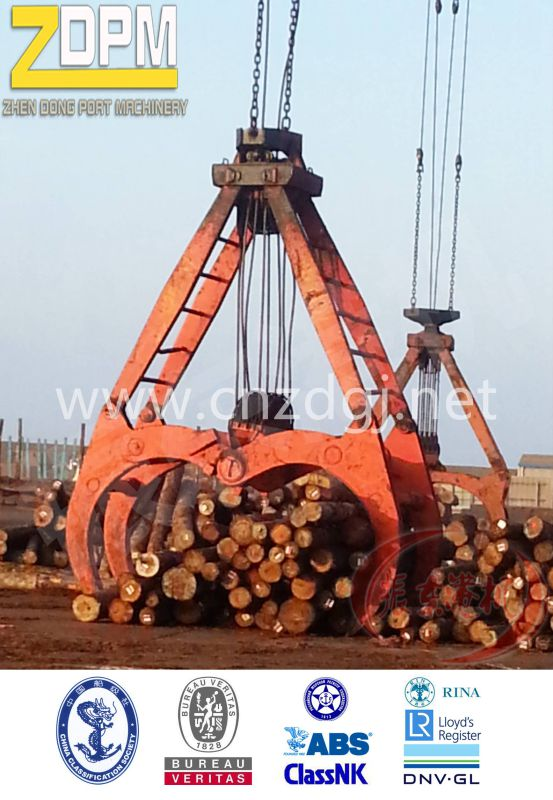 Digging Timber Grab with Double Rope