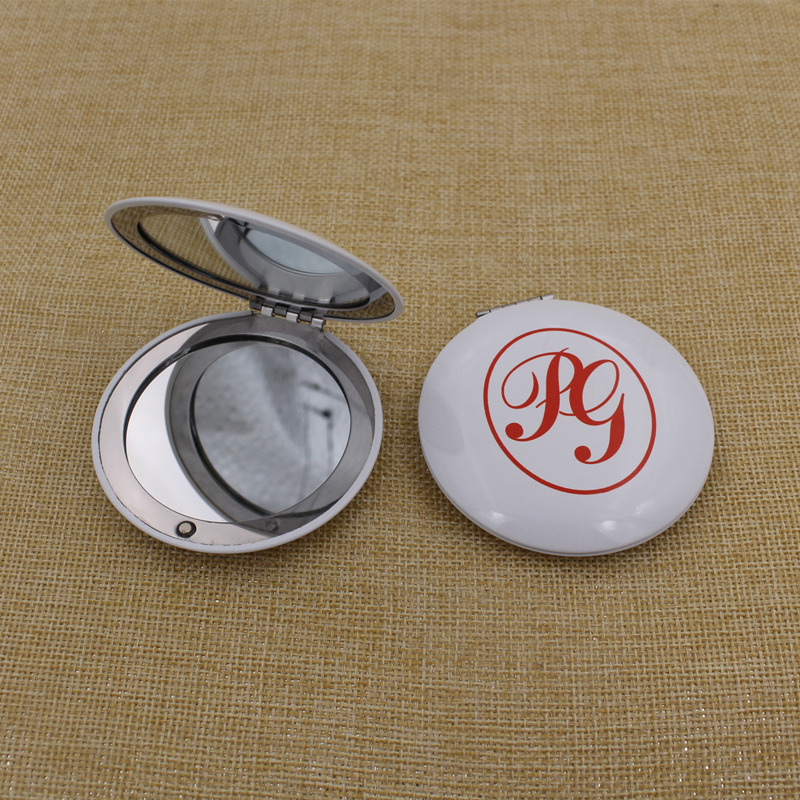 Custom Logo Round Double-Sided Cosmetic Makeup Mirror