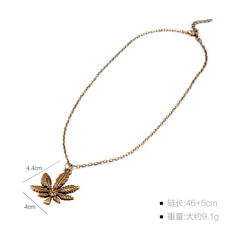 Punk Style Leaf Shape Pendant Women Fashion Necklace