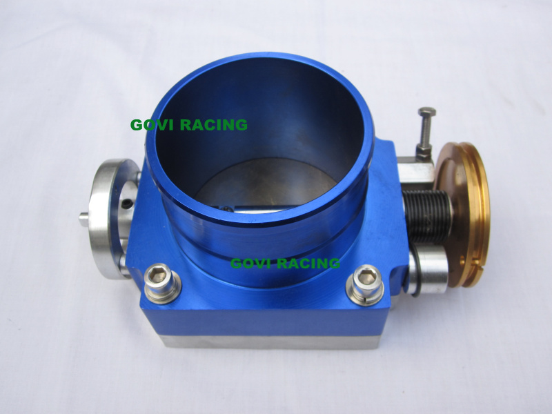 65mm/70mm/80mm/90mm/100mm Universal Racing Throttle Body Aluminum Blue/Red /Silver