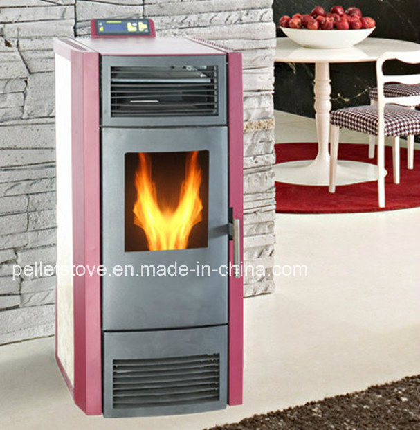 Indoor Using Temperature Setting Pellet Stove with Remote Control