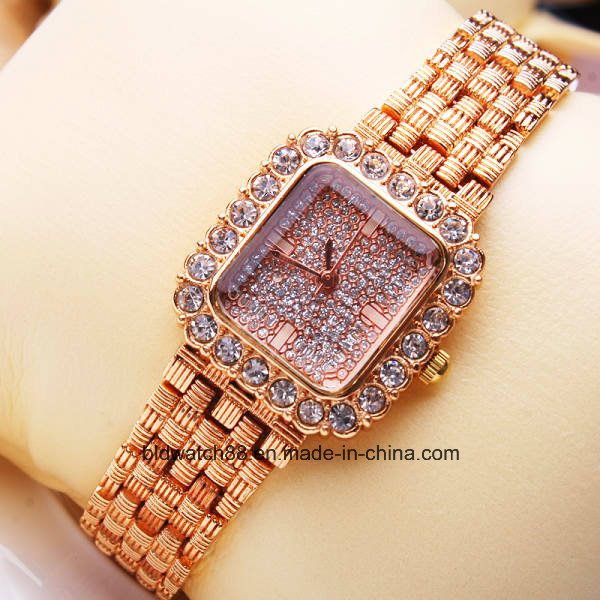 Fashion Lady Gold Jewellery Watch with Japan Movement