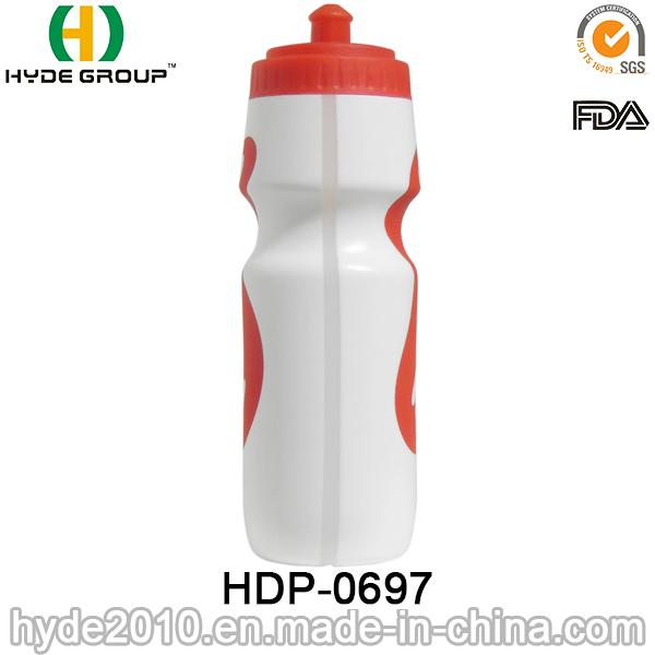 portable BPA Free PE Plastic Drinking Sports Water Bottle (HDP-0697)