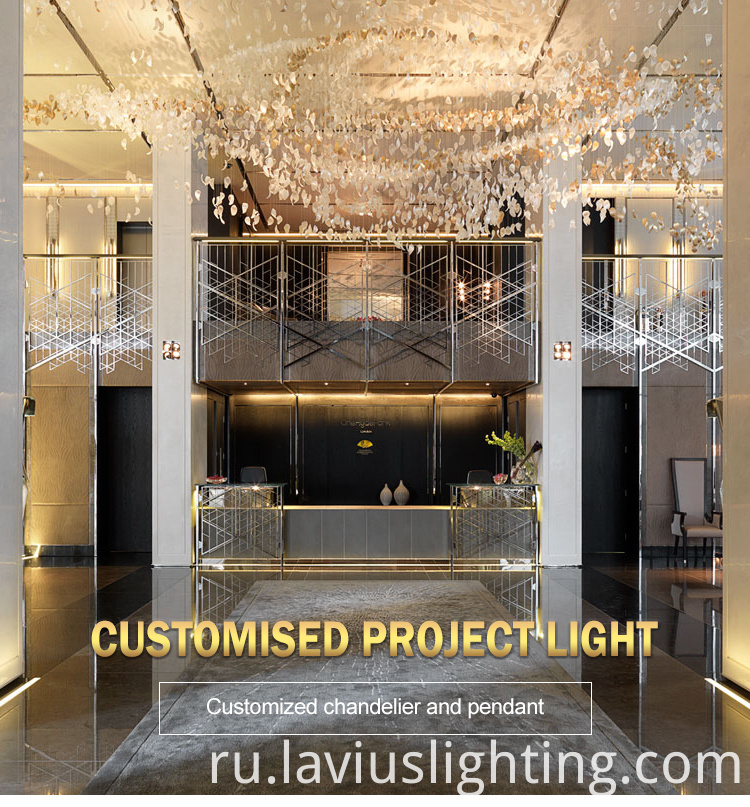 hanging crystal glass chandelier lamp
