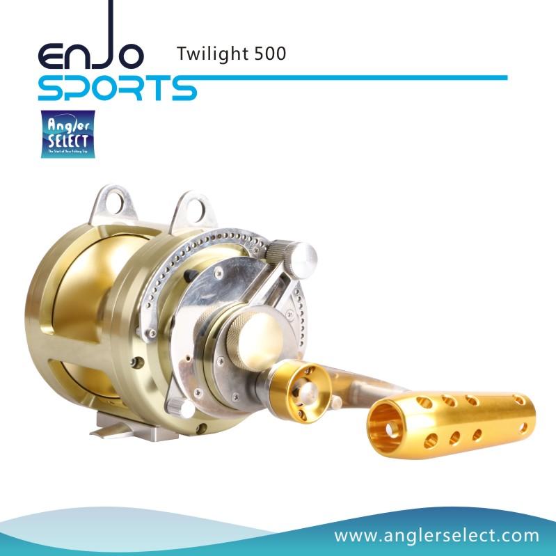 Angler Select Twilight Sea Fishing Aluminium 8+1 Bearing Sound Alarm Trolling Reel Fishing Tackle (Twilight 500)