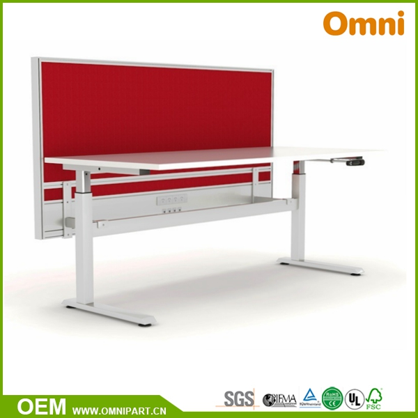 Open Style 3 Person 120 Degree Office Height Adjustable Workstation