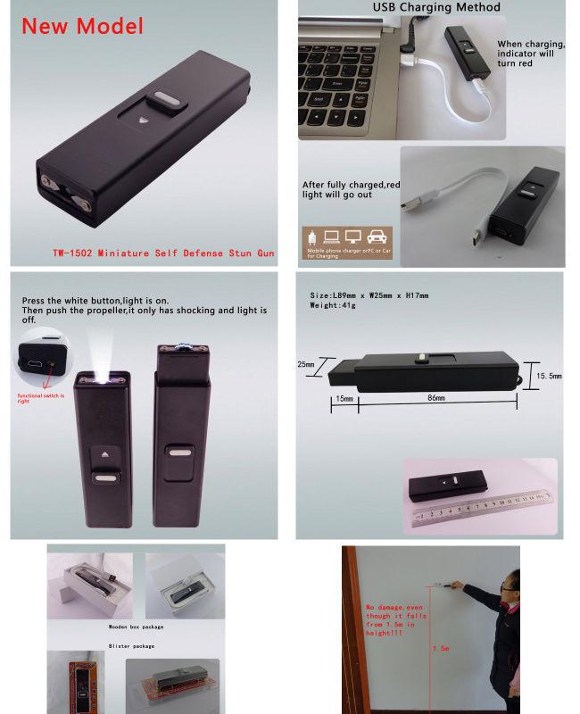 2016 Hot Miniature Stun Gun with Key Chain