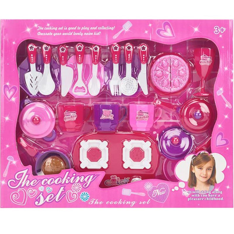 Plastic Tableware for Girl and Play House Toy