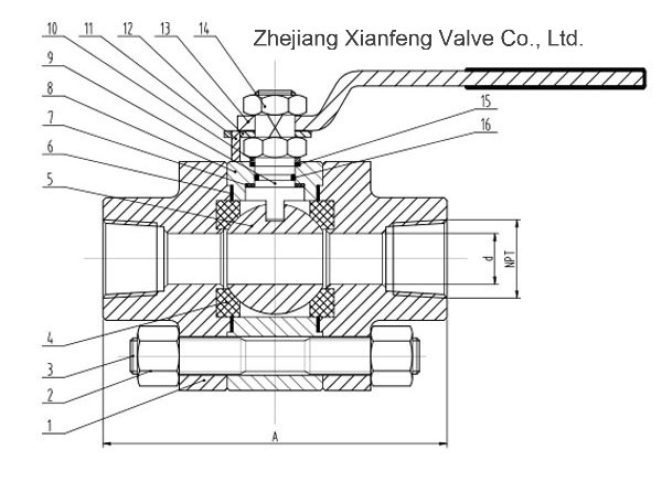 ANSI Standard Forged Steel A105 Thread End NPT Ball Valve