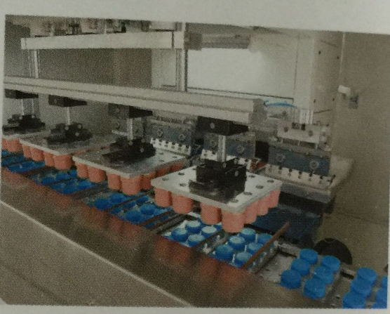 Multi-Color Automatic Tampo Printing Machine for Bottle Caps China