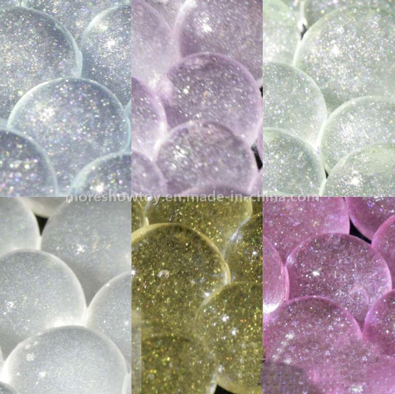 Golden Color Glitter Crystal Soil Water Gel Beads Wedding Decoration
