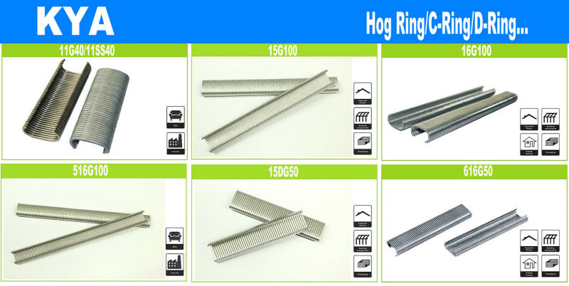 16g110 Pneumatic Hog Ring for Fence Wire