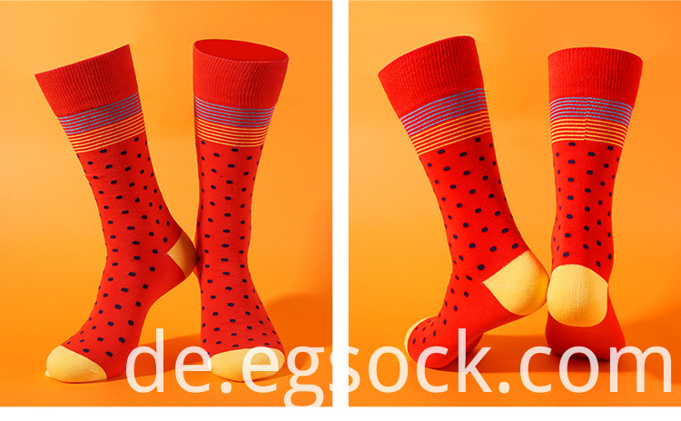 Dress Socks With Colorful Designs