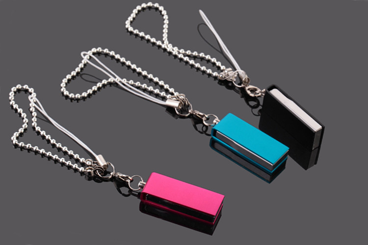 Hot Selling Cheap Swivel/Rotating Metal Flash Disk Memory USB with Keychain