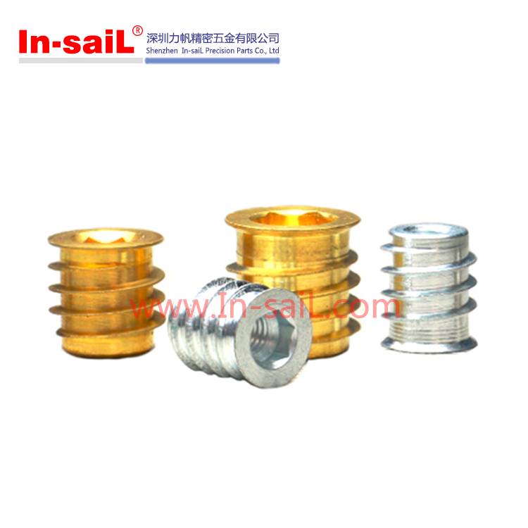 Brass Threaded Seif-Tapping Insert Nut for Plastic