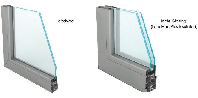 Landglass Curtain Wall Thermal Insulation Compound Vacuum Glass